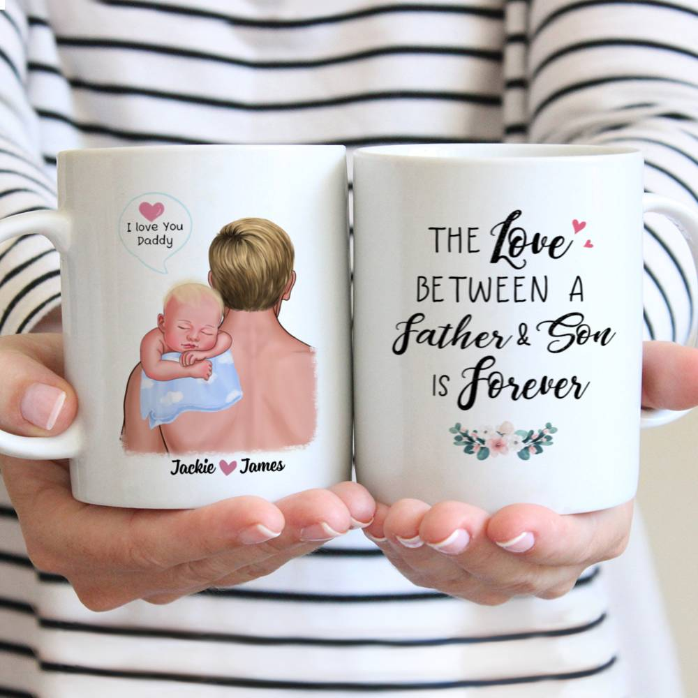 Personalized Mug - 1st Father's Day - The Love Between A Father & Son is Forever
