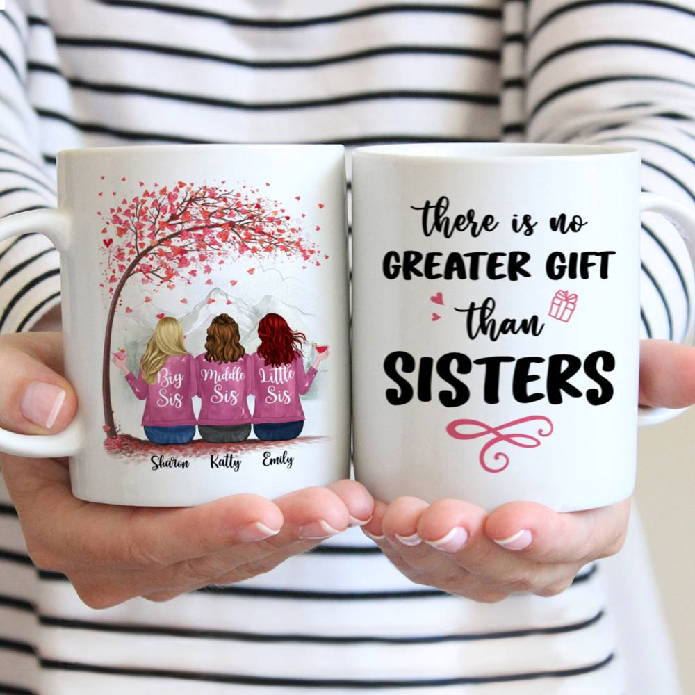 Personalized Mug - There Is No Greater Gift Than Sisters (Ver 2) (5726)