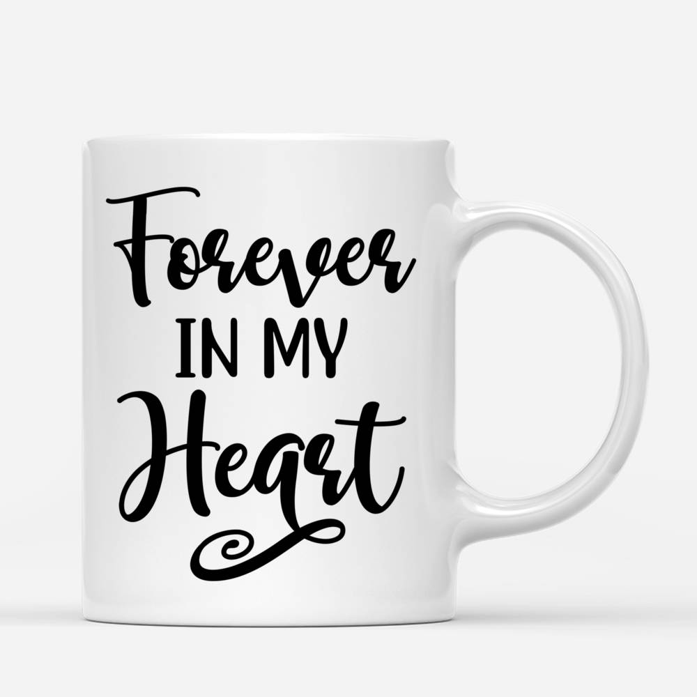 Customized Coffee Dogs Mom Mug - Girl and Dogs - Forever In My Heart_2