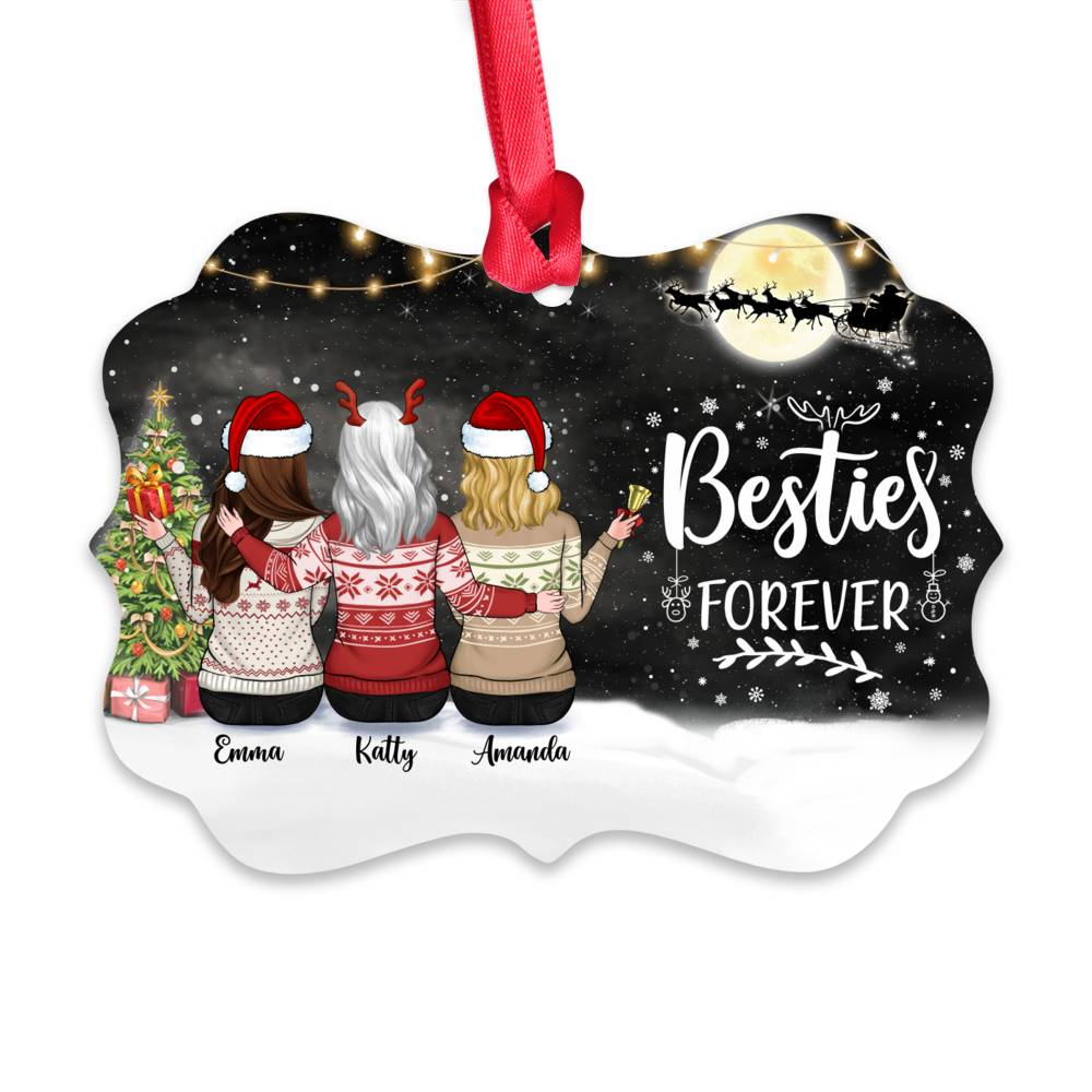 Personalized Ornament - Up to 5 Girls - Besties Forever (5395)_1