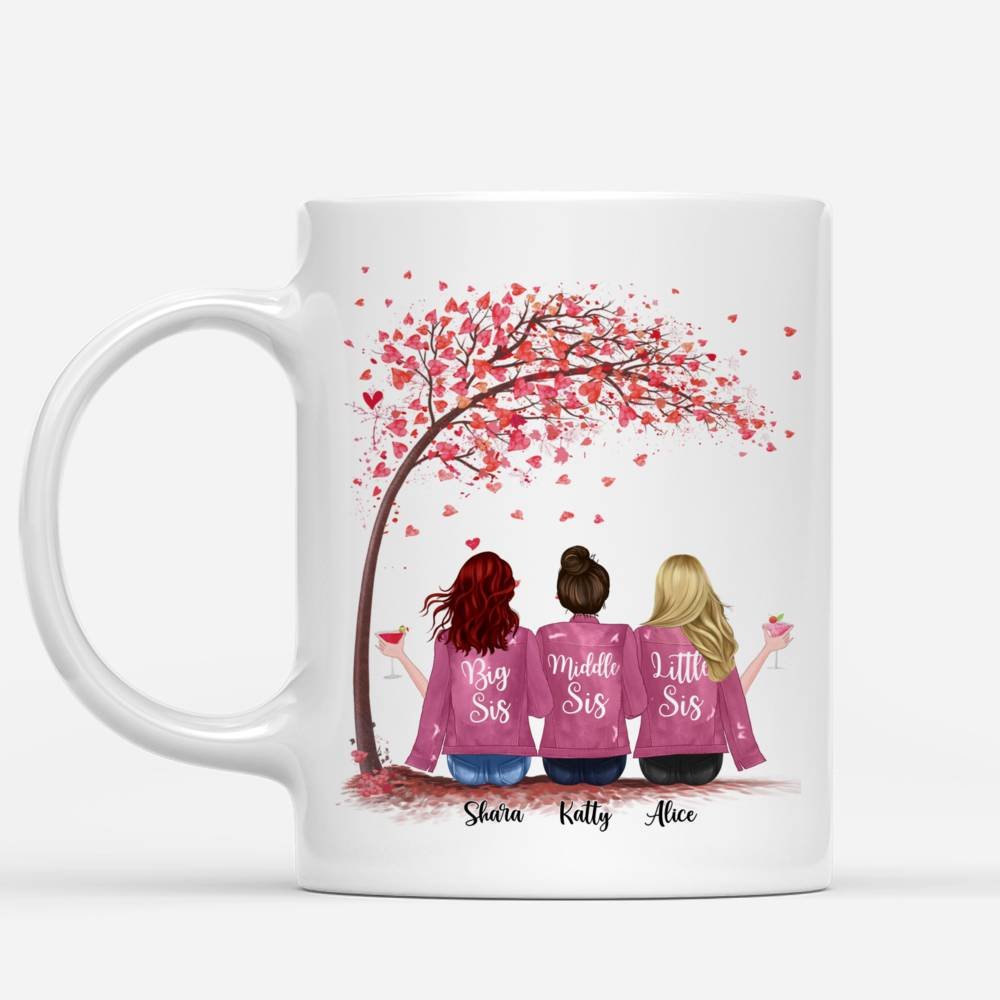 Personalized Mug - Up to 6 Sisters - You And I Are Sisters (Pink)_1