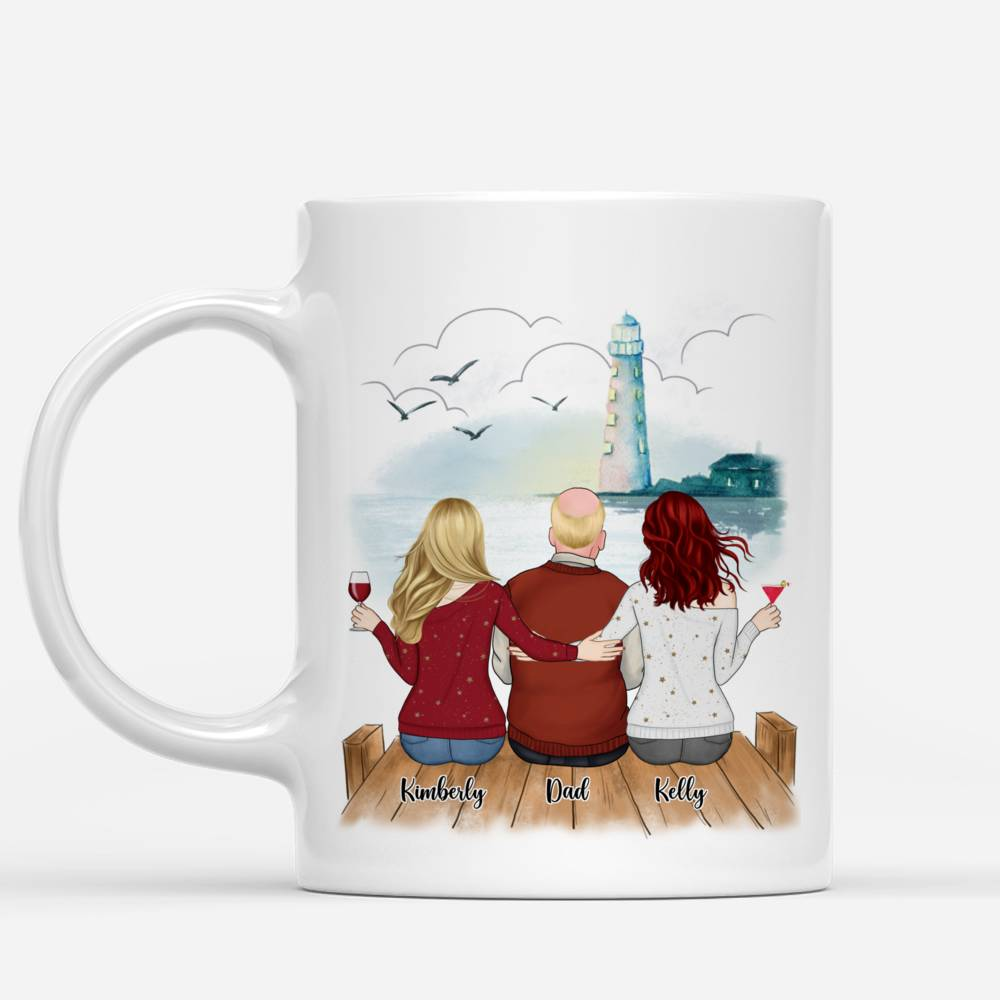 Personalized Mug - Family - Dad, The Man The Myth The Legend. You are the best dad ever (Lighthouse)_1