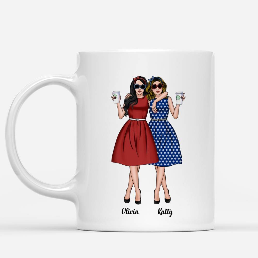 Personalized Mug - Vintage Best Friends - We Go Together Like Drunk And Disorderly_1