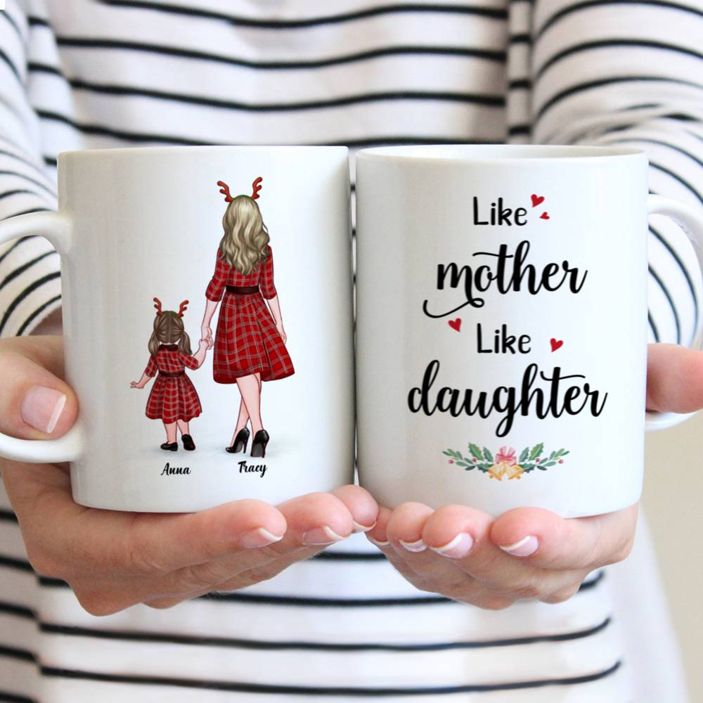 Personalized Mug - Mother and Kid Daughter - Like Mother - Like Daughter