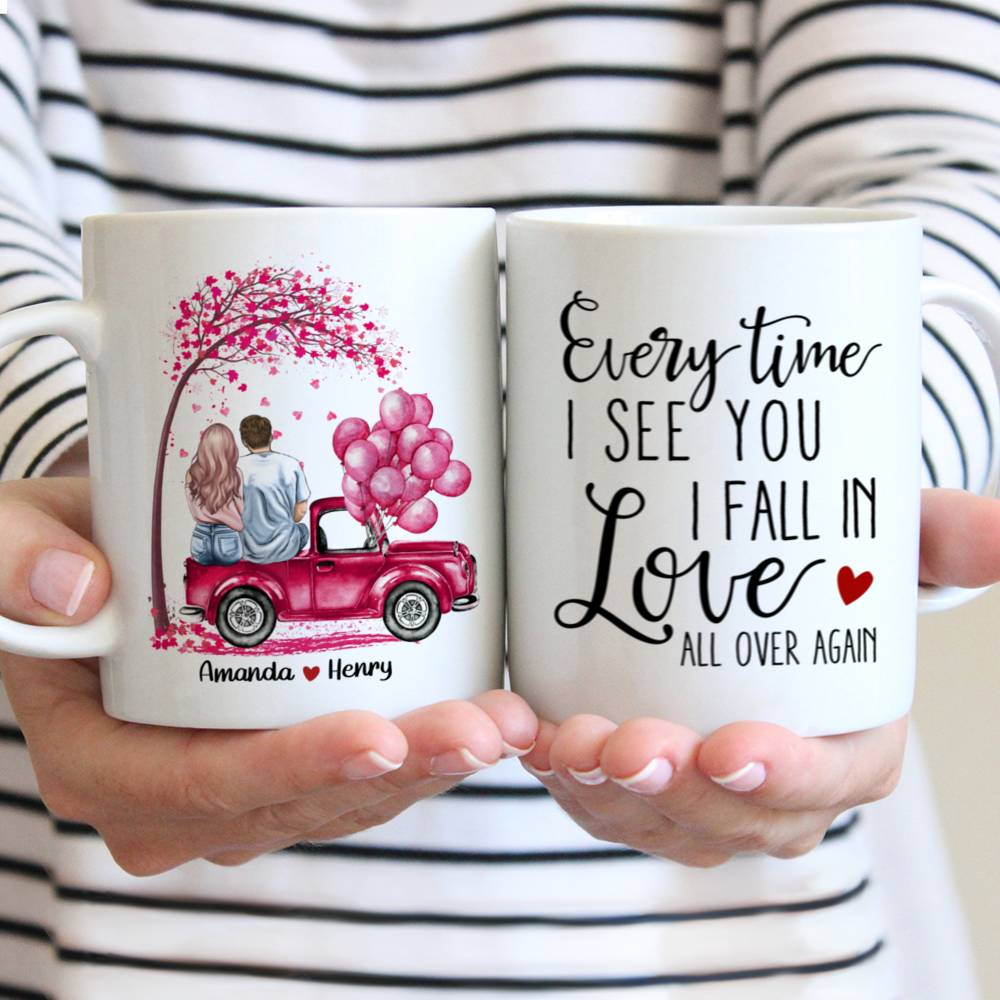Personalized Mug - Couple - Everytime I see you I fall in love all over again