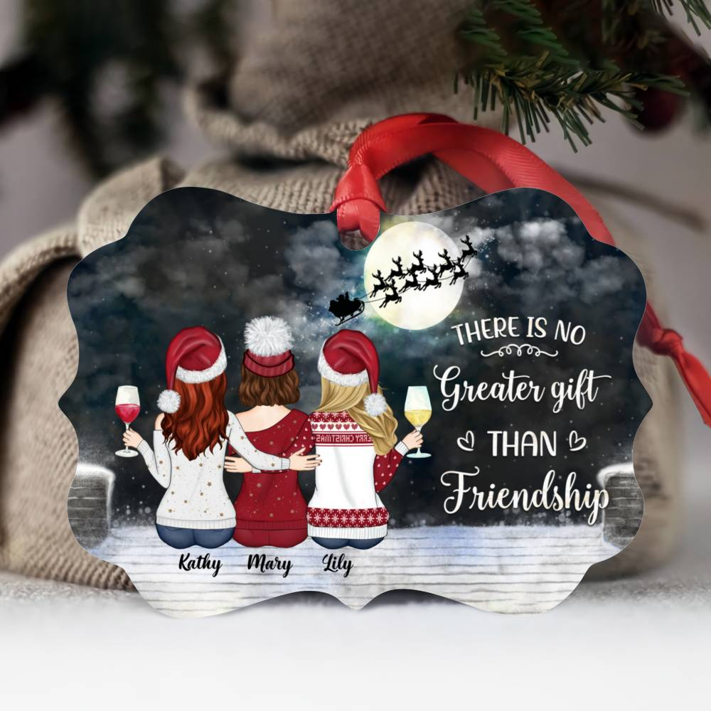 Personalized Christmas Ornament - There Is No Greater Gift Than Friendship (N)