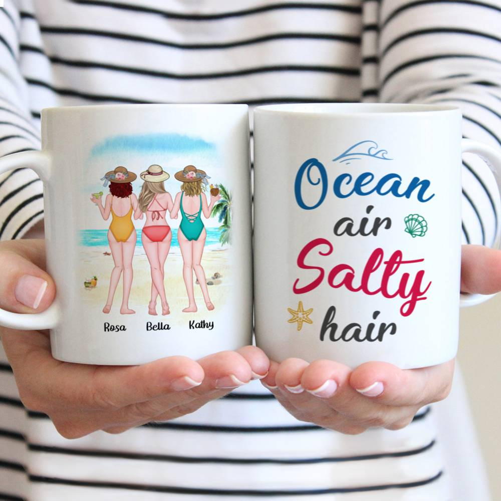 Personalized Mug - Friends - Ocean Air Salty Hair