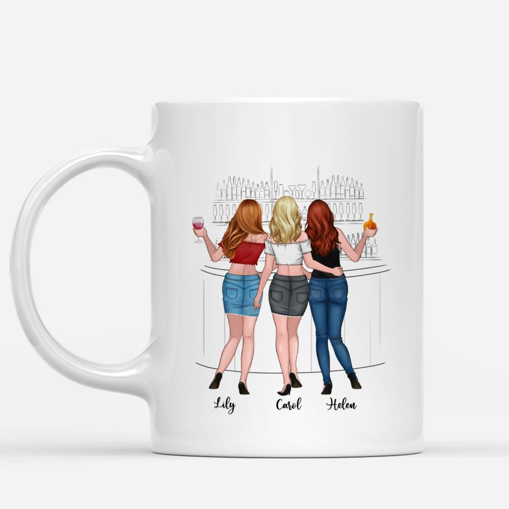 Personalized Mug - Up to 6 Girls - I would fight a bear for you besties... (Drink)_1