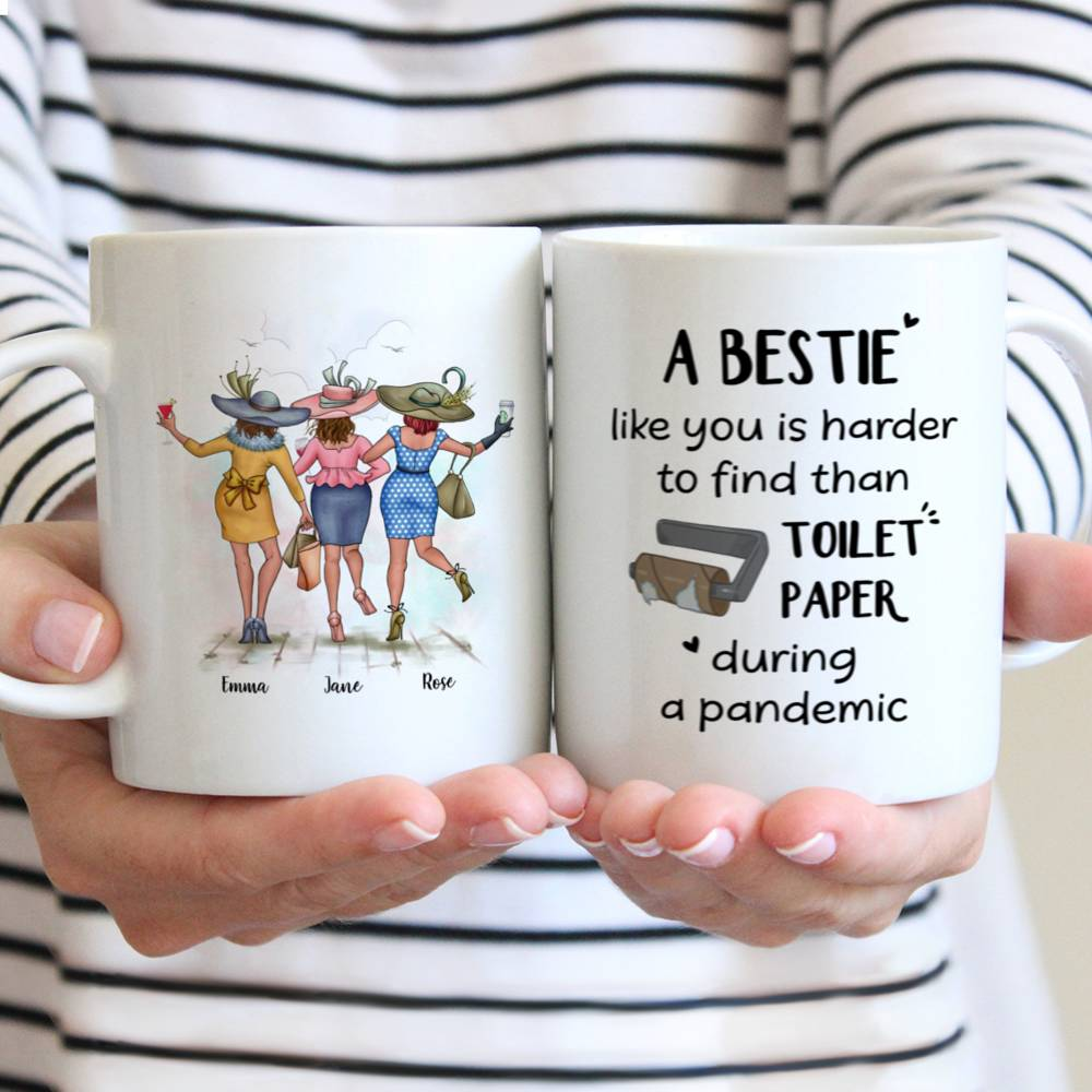 Personalized Mug - Best friends - A Bestie Like You Is Harder To Find Than Toilet Paper During A Pandemic