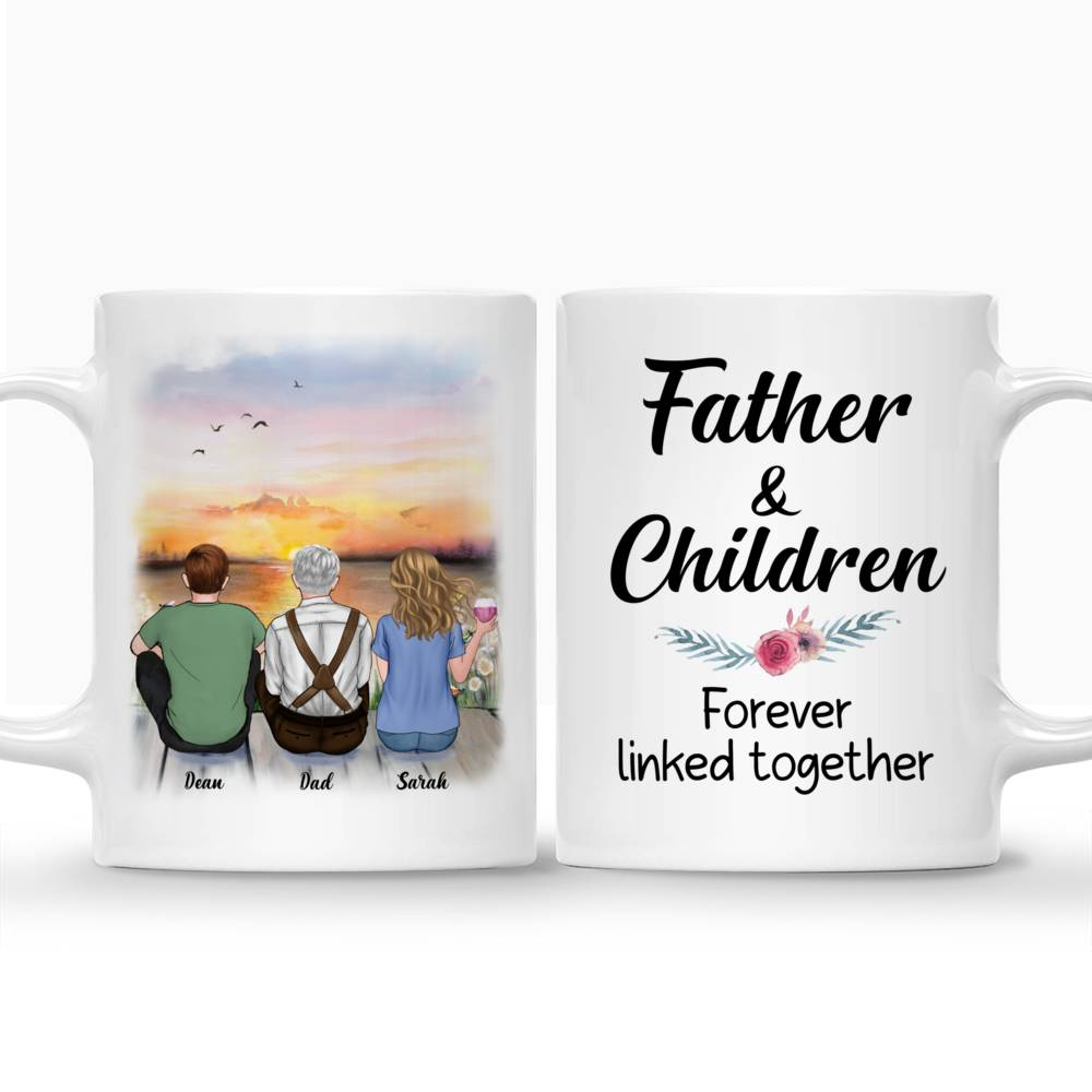 Personalized Mug - Father And Children Forever Linked Together | Gossby_3