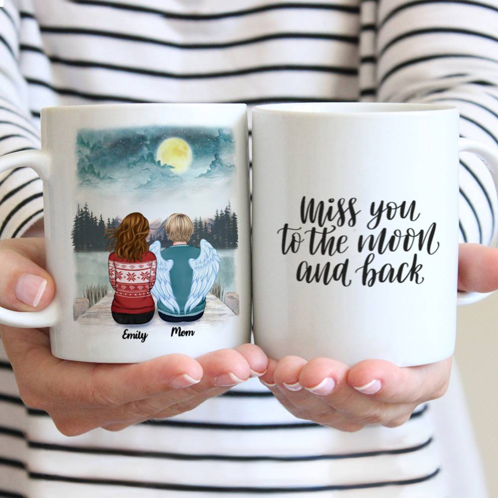 Personalized Mug - Memorial Mug - Moon - Miss You To The Moon And Back