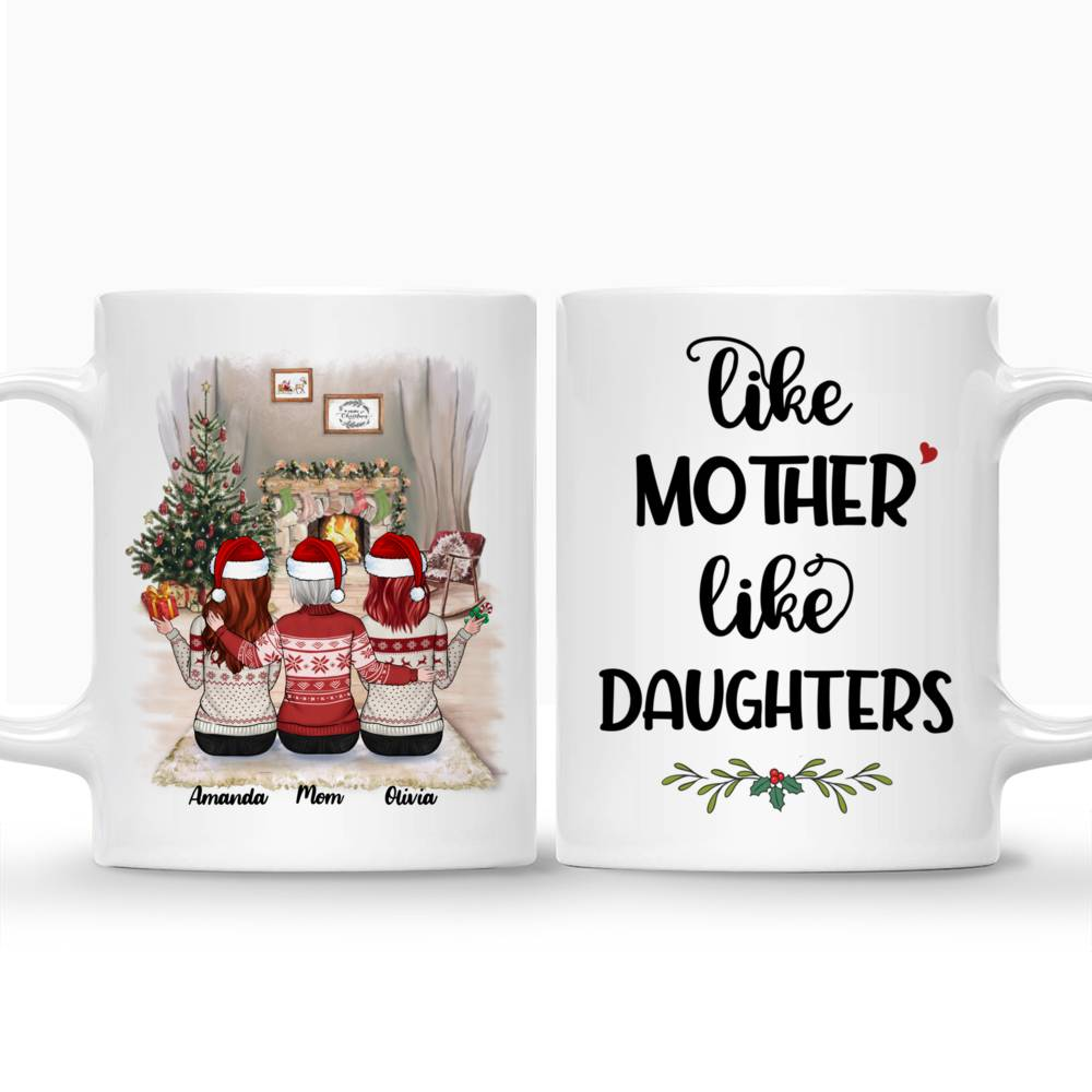 Personalized Mug - Mother & Daughter Xmas - Like Mother Like Daughters_3