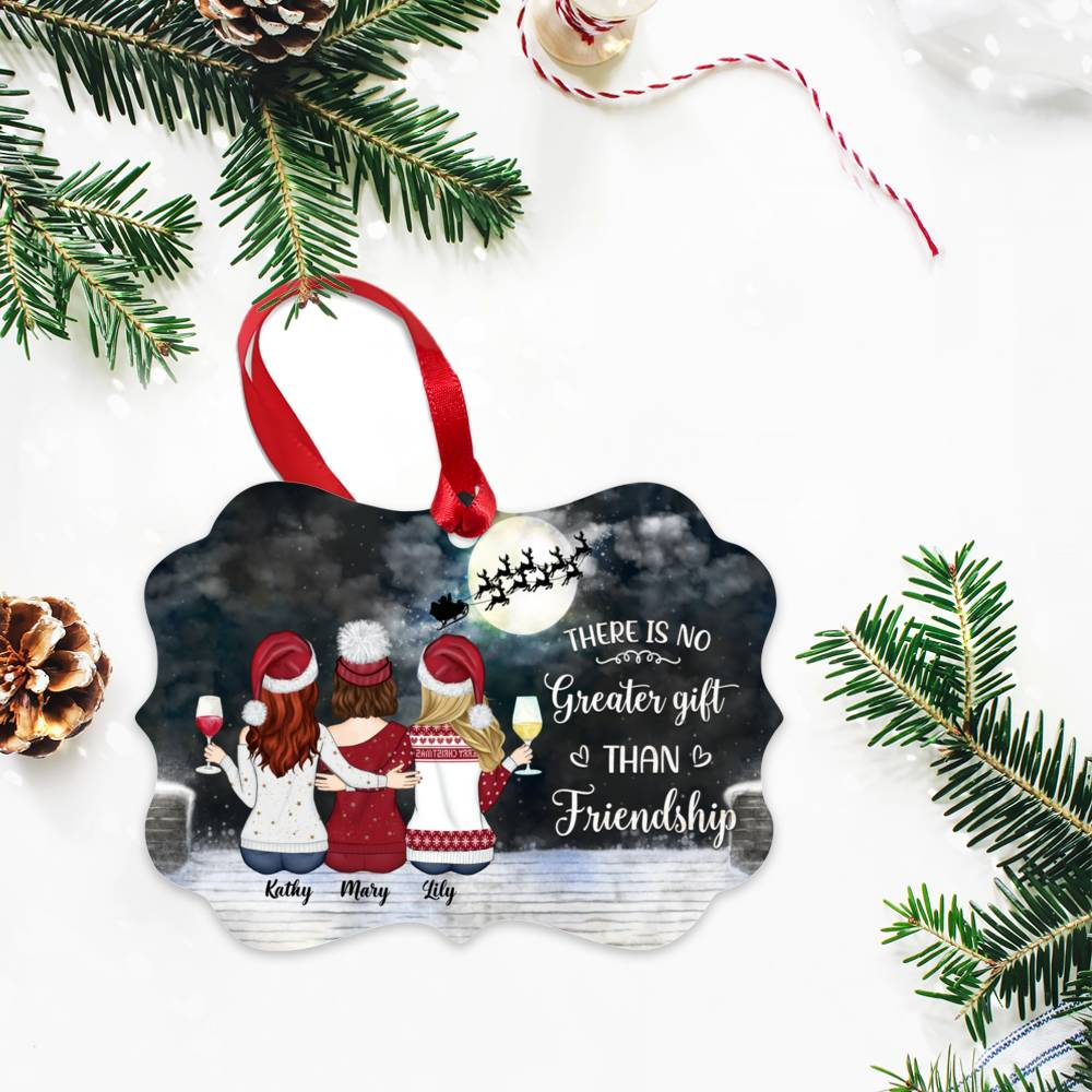 Personalized Christmas Ornament - There Is No Greater Gift Than Friendship (N)_2