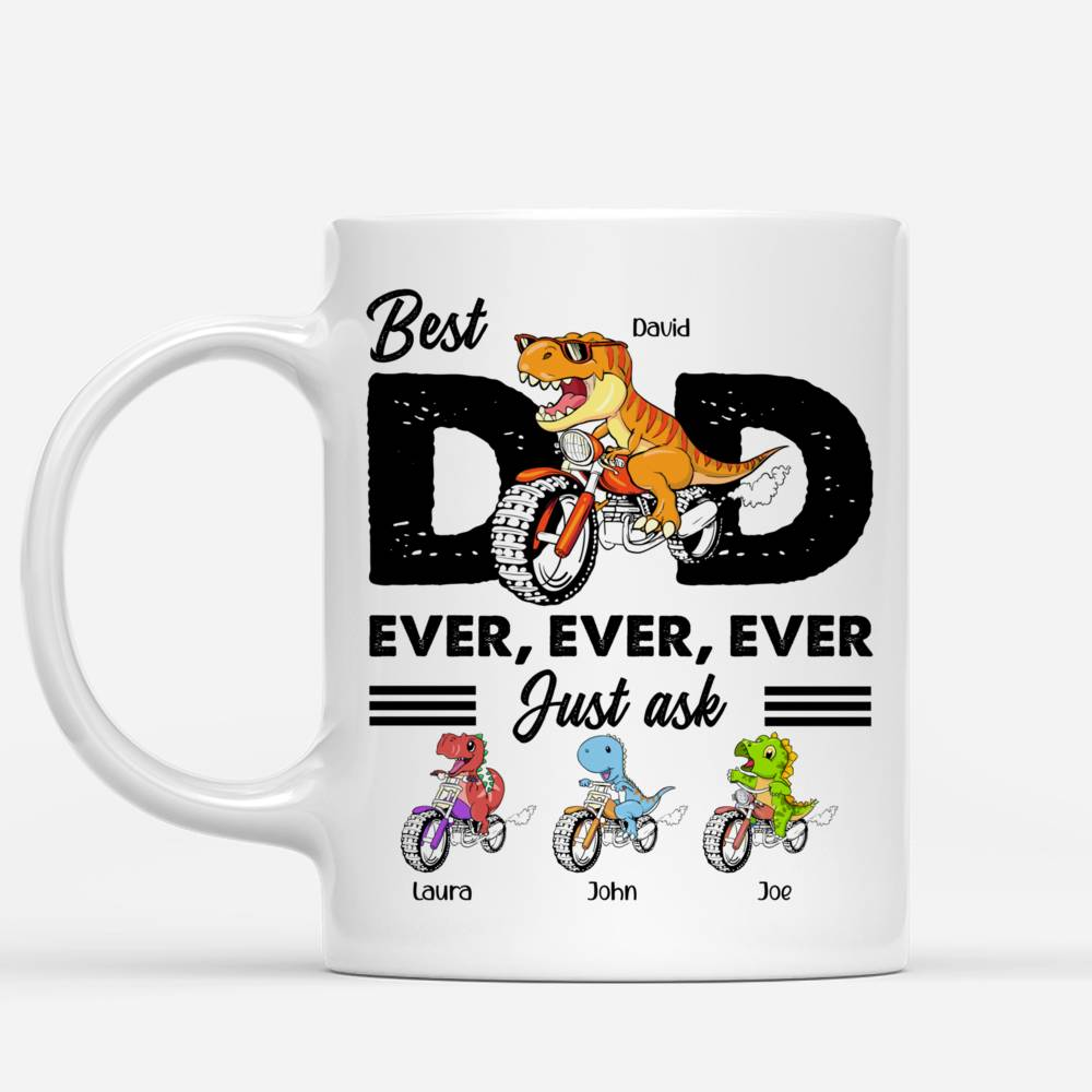 Personalized Mug - Father's Day - Best Dad Ever (Dinosaur)_1