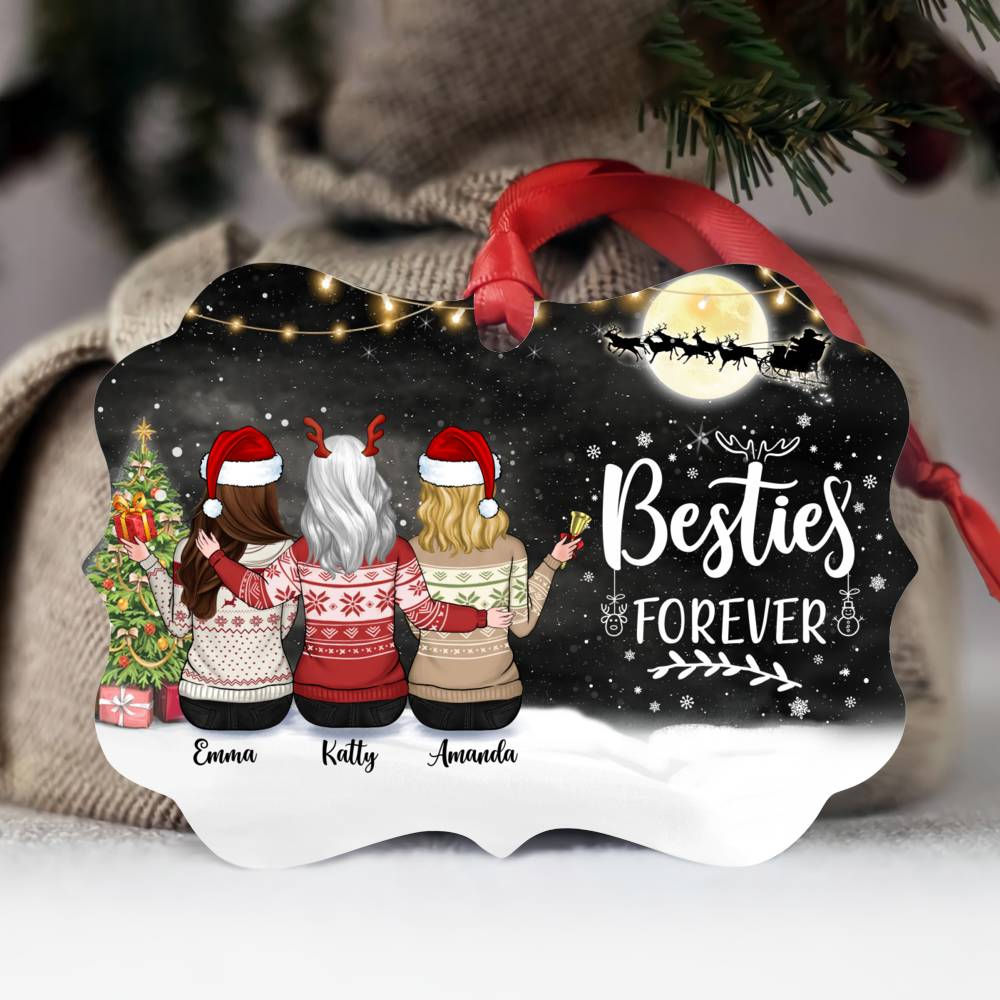 Personalized Ornament - Up to 5 Girls - Besties Forever (5395)