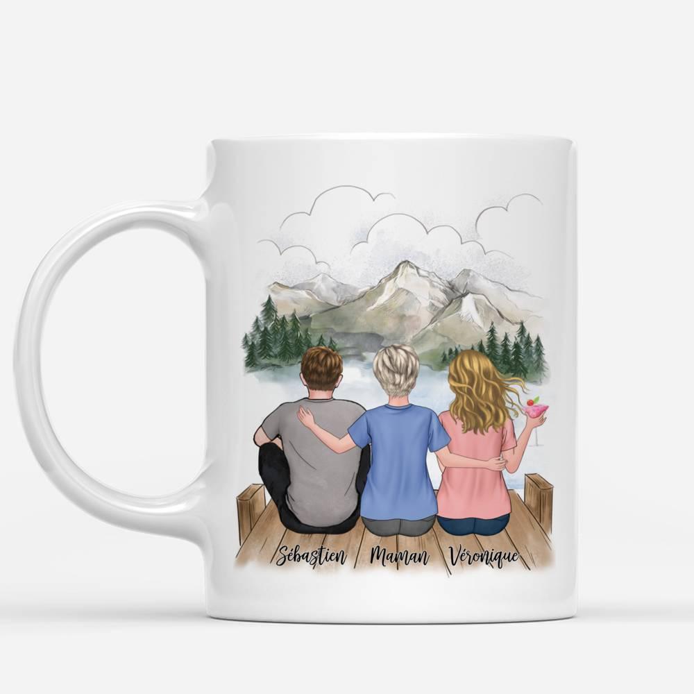 Personalized Mug - Mère et ses Enfants - L'amour entre une mère et ses enfants est éternel (5266)_1