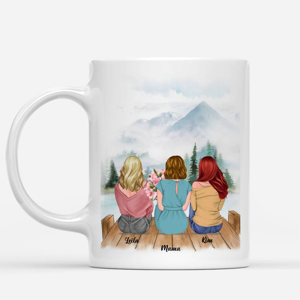 Personalized Mug - Mother & Daughter - Mother & Daughters Forever Linked Together - Romance_1