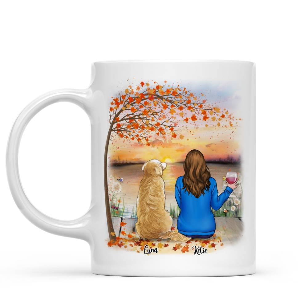 Personalized Mug - Girl and Dogs - Life Is Better With A Dog (5213)_2
