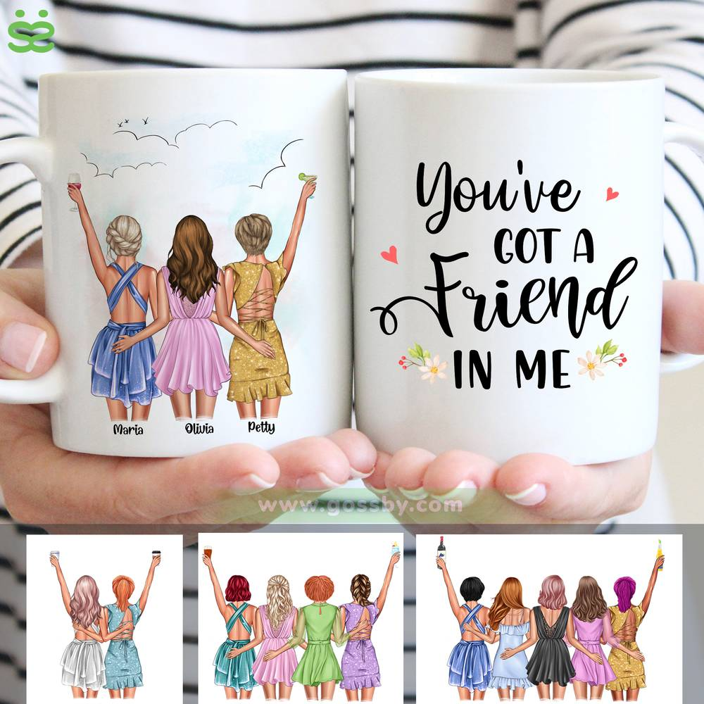 Personalized Mug - Best friends - Up to 5 girls - You've  got a  friend  in me (6490)