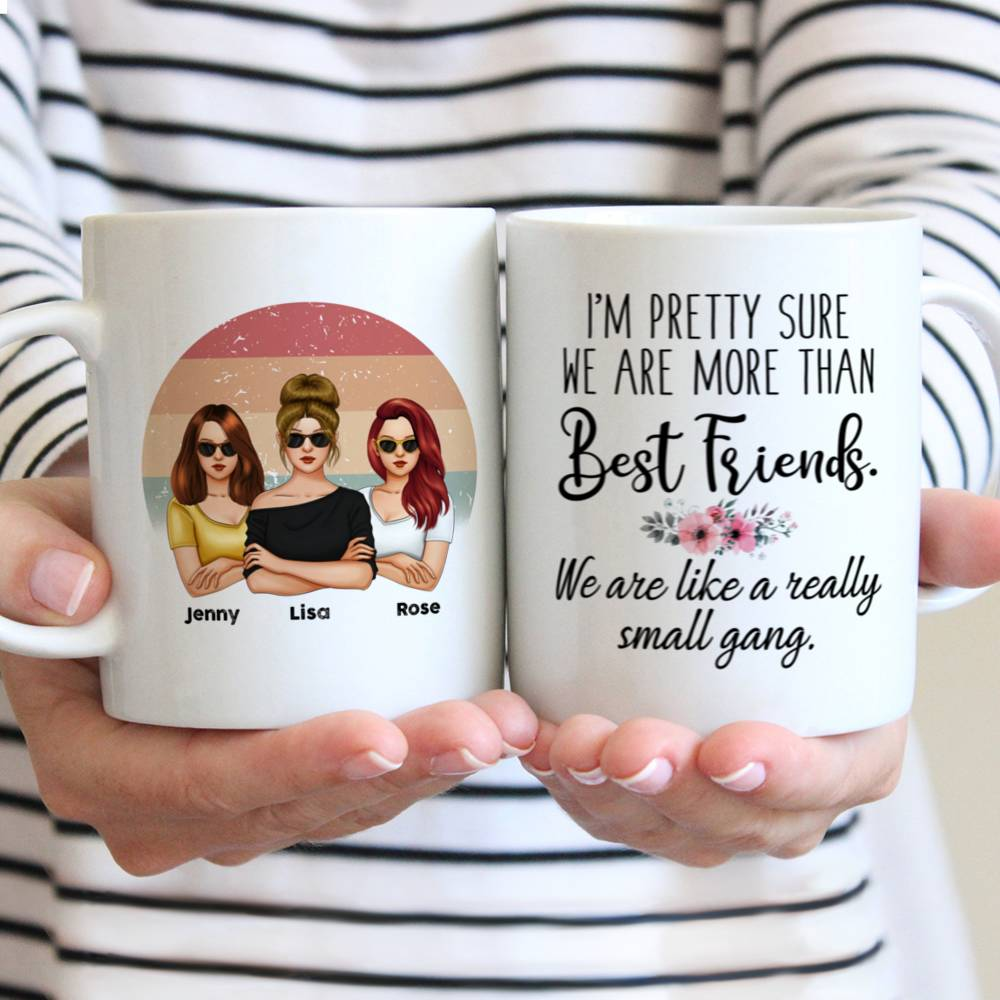 Personalized Mug - Friends - I'm Pretty Sure We Are More Than Best Friends We Are Like A Really Small Gang (V3)_2