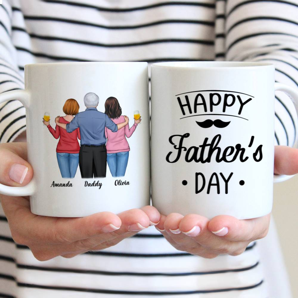 Personalized Mug - Father & Daughters - Happy Father's Day!