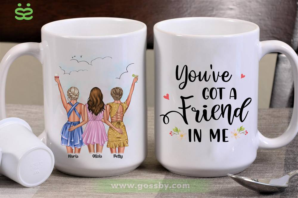 Personalized Mug - Best friends - Up to 5 girls - You've  got a  friend  in me (6490)_2