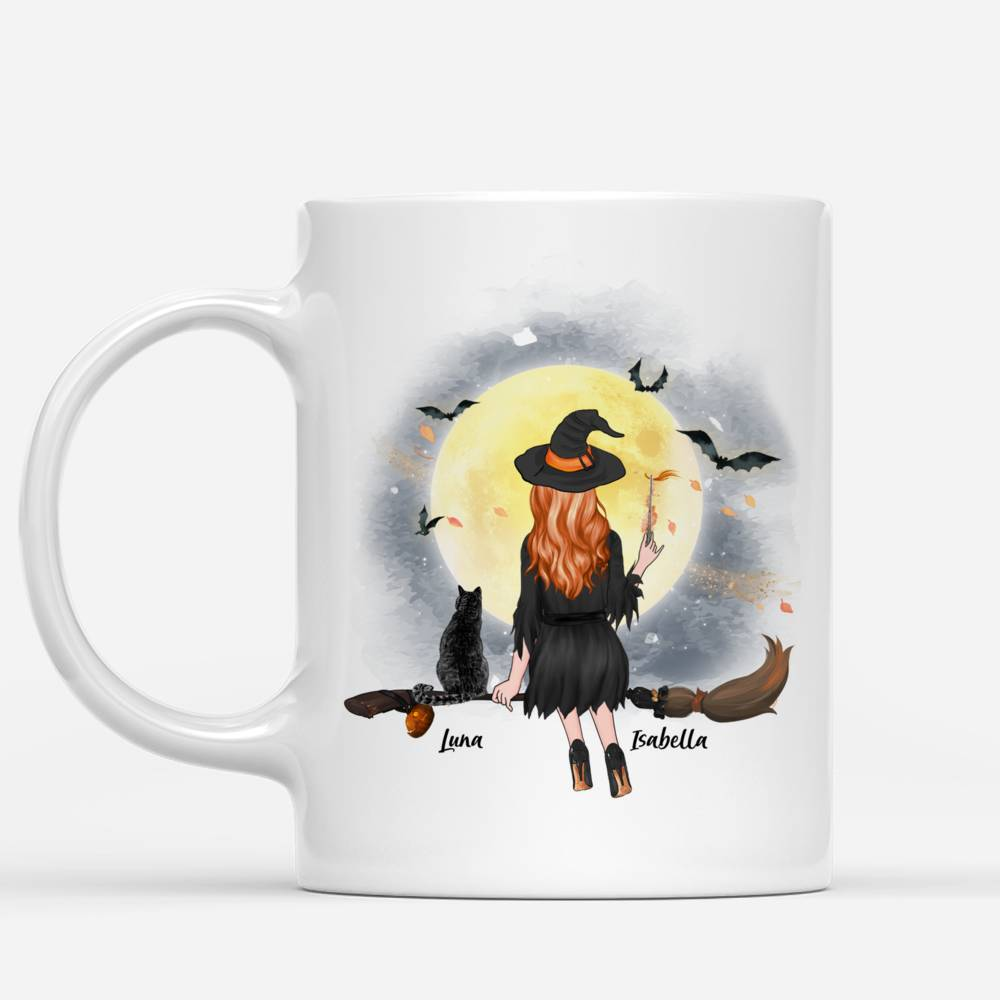 Personalized Witch and Cats - Crazy Cat Witch Custom Mug | Gossby_1