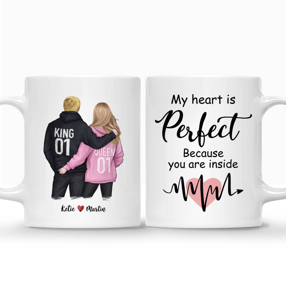 Personalized Mug - Couple - My Heart Is Perfect Because You Are Inside_3