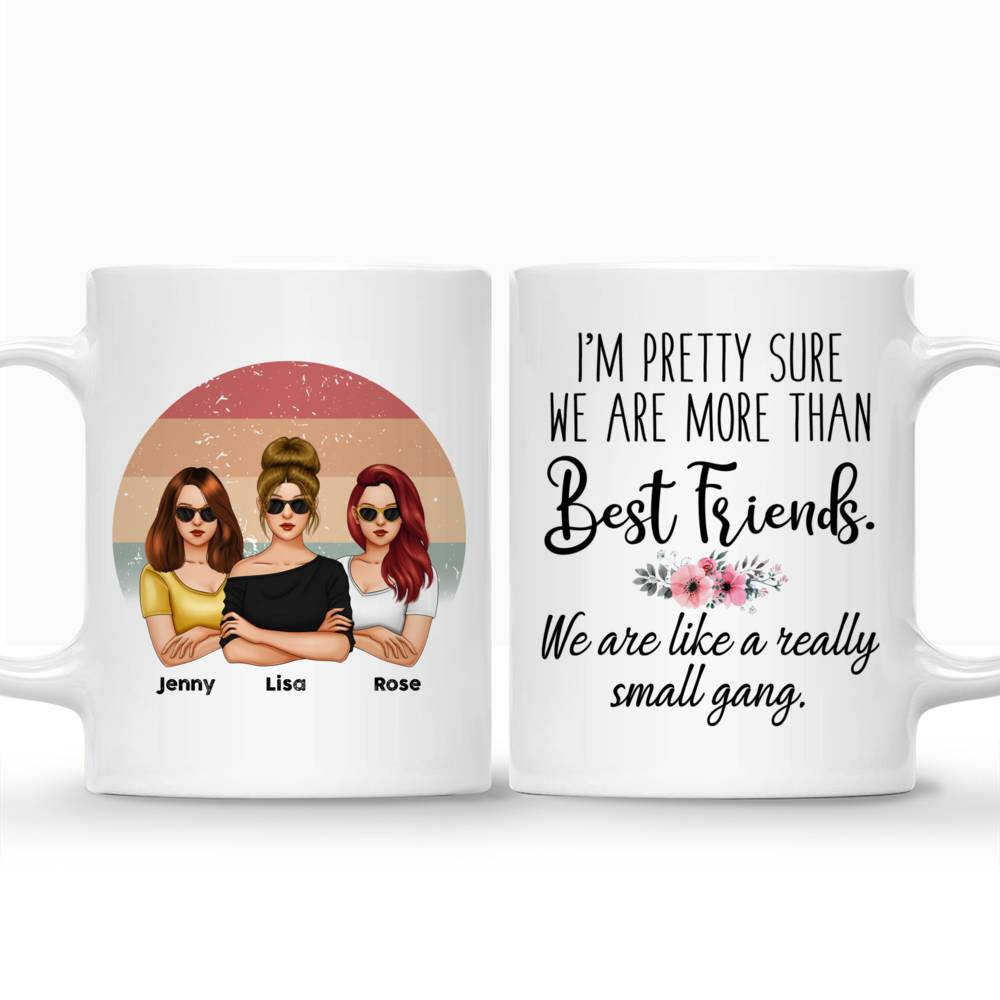 Personalized Mug - Friends - I'm Pretty Sure We Are More Than Best Friends We Are Like A Really Small Gang (V3)_5