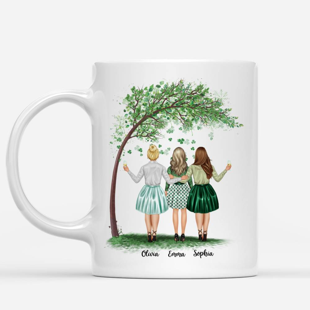Personalized Mug - Best friends - Best friends are like four leaf clovers, hard to find and lucky - Up to 4 Friends_1