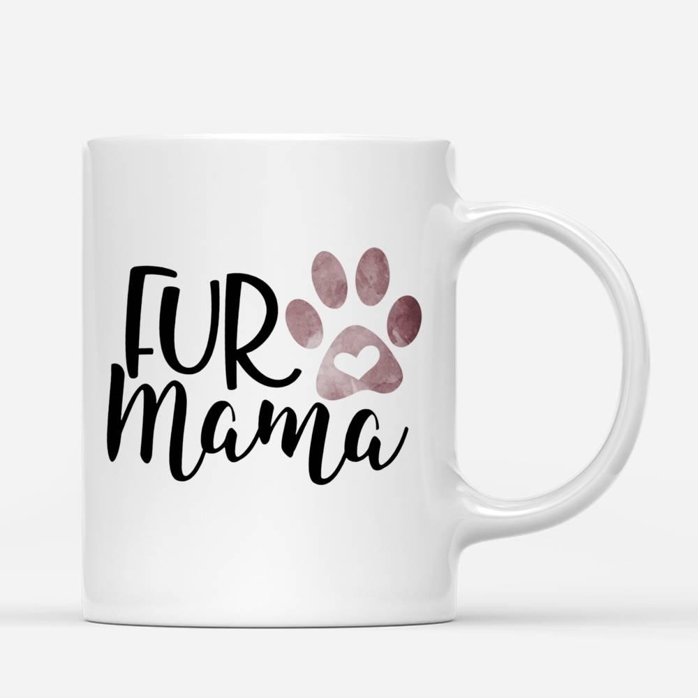 Personalized Girl & Dogs Mug - Fur Mama Custom Mug (Love Version)_2