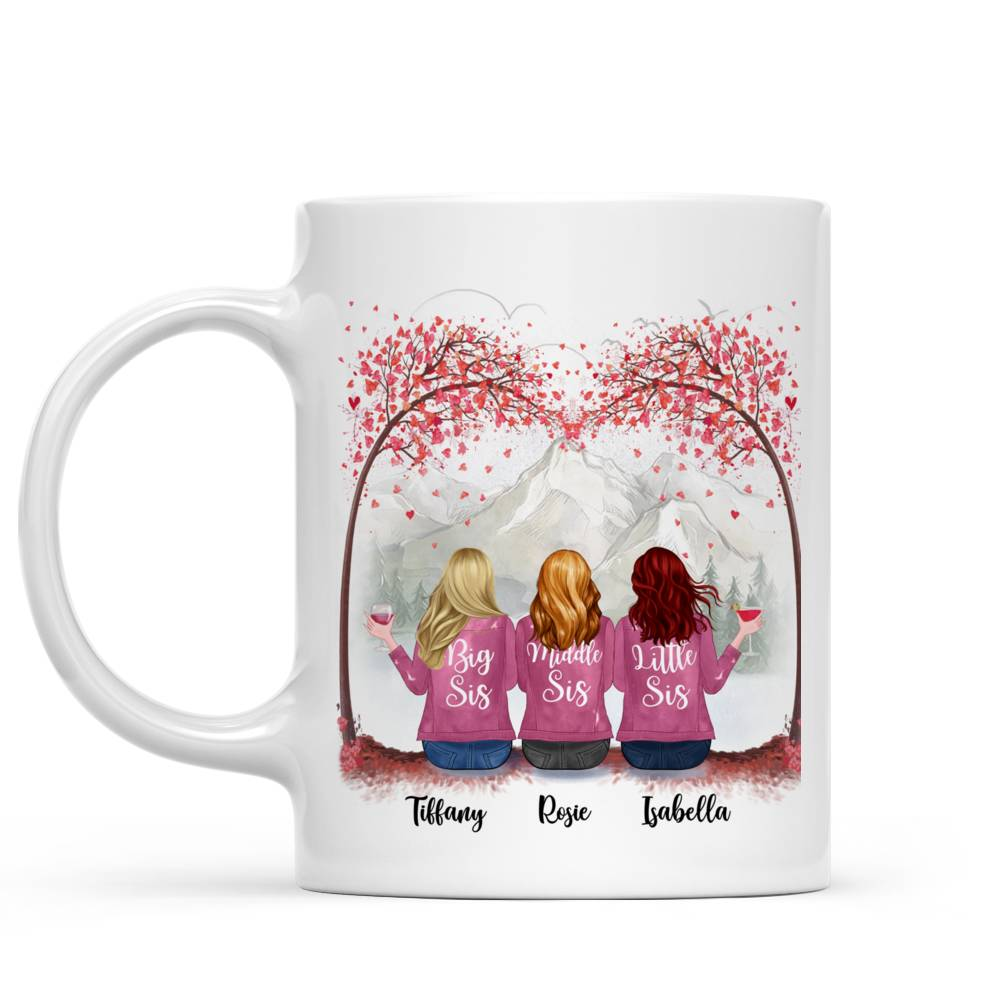 Personalized Mug - Up to 7 Sisters - Sisters are like stars, you can't always see them, but you know they're always there (T7416)_1