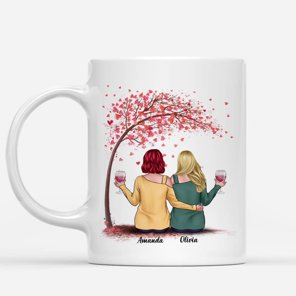 Personalized Mug - Love Tree 2 - I Would Fight A Bear For You Sister (Heart)_1