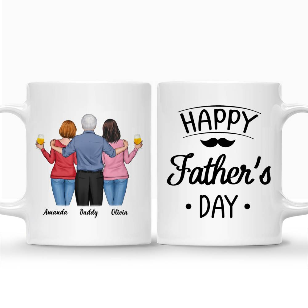 Personalized Mug - Father & Daughters - Happy Father's Day!_3