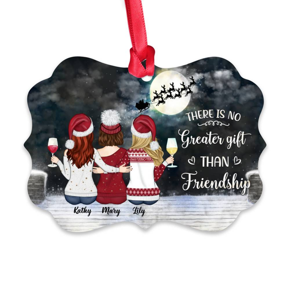 Personalized Christmas Ornament - There Is No Greater Gift Than Friendship (N)_1