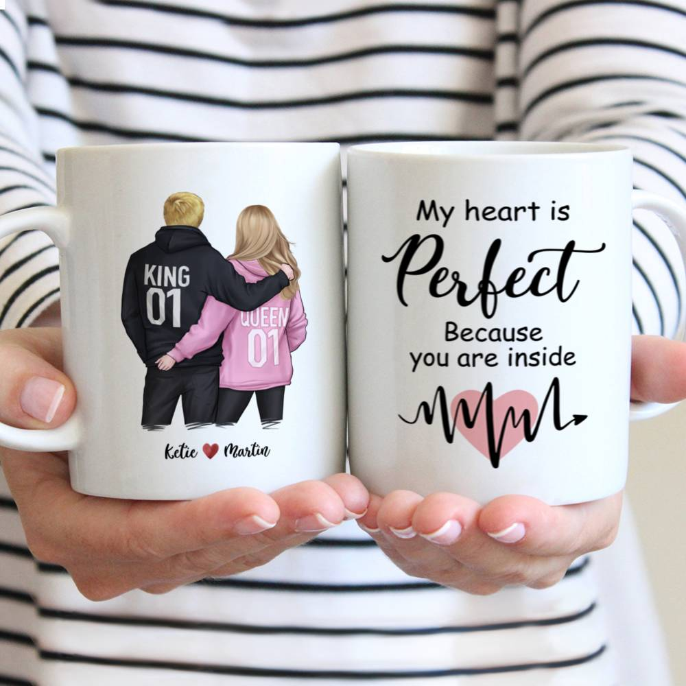 Personalized Mug - Couple - My Heart Is Perfect Because You Are Inside