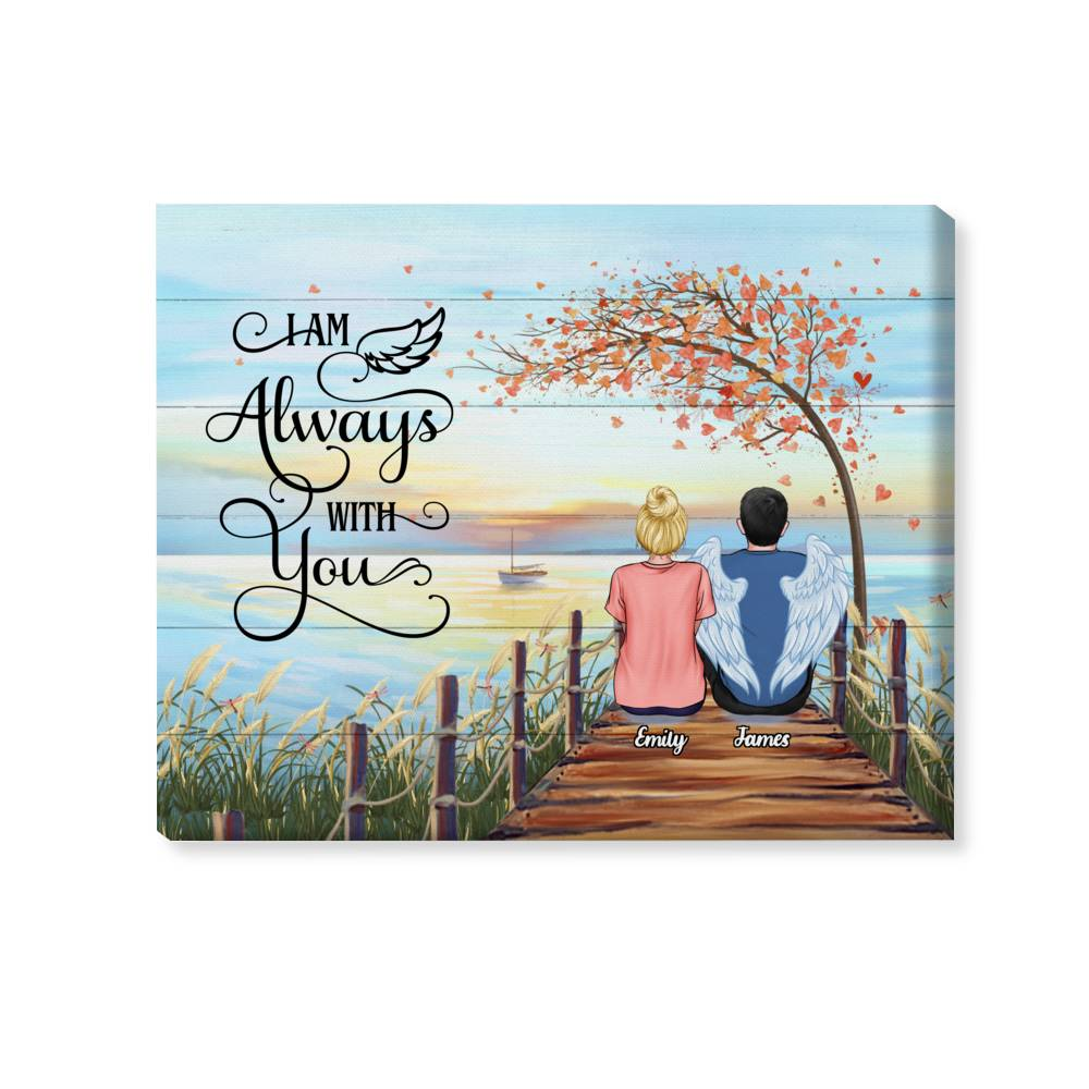 Personalized Wrapped Canvas - I'm Always with You (Memorial Theme)