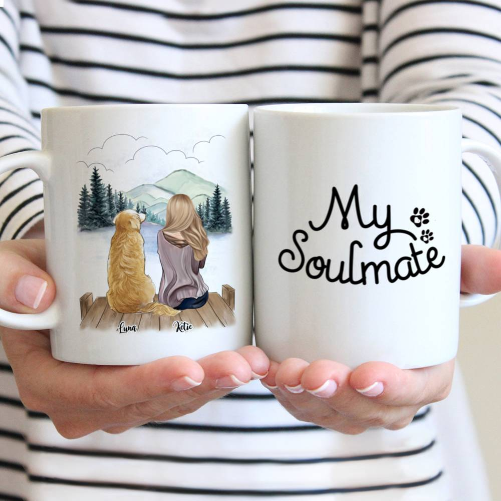 Personalized Mug - Girl and Dogs - My Soulmate