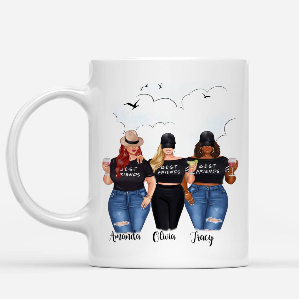 Personalized Mug - Sisters Mug - Personalized Mug - 2/3 Girls - Not Sisters By Blood But Sisters By Heart_1